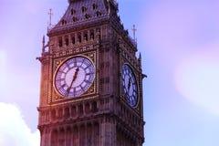 大本钟Clocktower,伦敦 库存照片