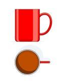 大杯子红色 库存例证