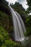 大柔滑的瀑布 库存照片