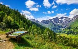 大格洛克纳山全景路在奥地利 观察台 免版税库存图片