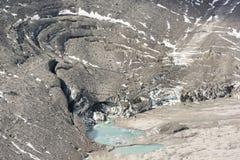 大格洛克纳山的小Glacier湖 库存照片