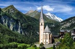 大格洛克纳山在奥地利,欧洲阿尔卑斯 免版税库存图片