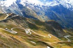 大格洛克纳山高高山路(Hochalpenstrasse),奥地利 免版税库存照片