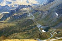 大格洛克纳山高高山路(Hochalpenstrasse),奥地利 免版税库存图片
