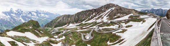 大格洛克纳山Hochalpenstrasse在奥地利 库存图片