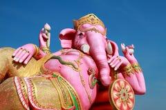 大桃红色Ganesha雕象 库存照片