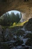 大桥如从下面被看见,美妙的桥梁,保加利亚 免版税图库摄影