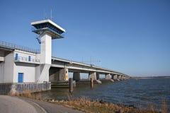 大桥梁混凝土荷兰 免版税库存图片