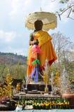 大桶Phou或Wat在巴色的Phu希瓦雕象在占巴塞省,老挝 库存照片
