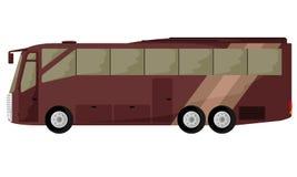 大棕色公共汽车 皇族释放例证