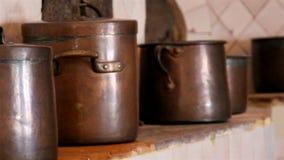 大棕色烹调罐套棕色罐 股票录像