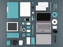 大模型企业模板 免版税图库摄影