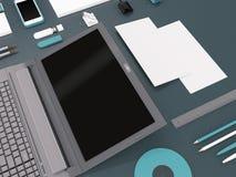 大模型企业模板 免版税库存图片