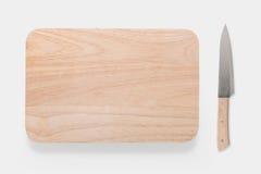 大模型切板和刀子的设计观念设置了  库存照片