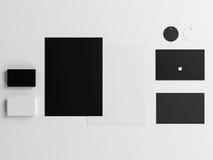 大模型在白色背景设置的企业模板 免版税图库摄影