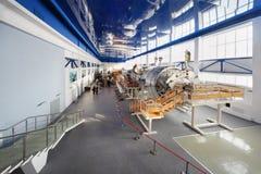 大模拟程序在宇航员培训中心 免版税库存照片