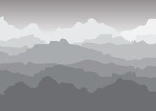大横向山山 库存照片