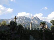 大横向山山 免版税图库摄影