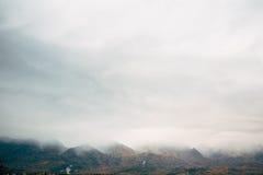大横向山山 图库摄影