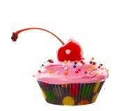 大樱桃杯形蛋糕 图库摄影
