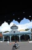 大气交通忙碌苏腊卡尔塔,中爪哇省印度尼西亚 库存照片