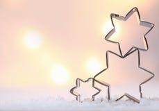 大气圣诞节星形背景 库存照片