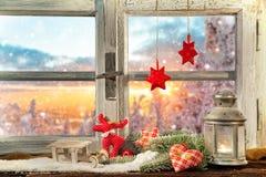 大气圣诞节窗口基石装饰 库存图片