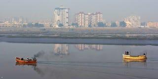 大气污染在印度 免版税库存图片