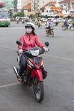 大气污染在胡志明市,越南 免版税库存图片