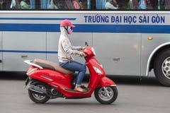 大气污染在胡志明市,越南 免版税库存照片