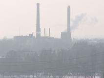 大气污染工厂 图库摄影