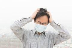 大气污染的概念 免版税库存照片