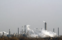大气污染 免版税图库摄影