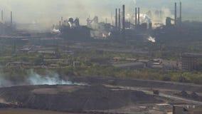大气的污染由冶金产业的工业企业的 股票录像