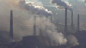 大气的污染由冶金产业的工业企业的 股票视频