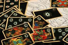 大气神秘的时运魔术出纳员巫婆 库存照片