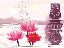 大气美妙的莲花 库存图片