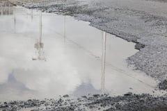 大水坑坑洼 库存图片