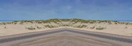 大沙丘的全景在荷兰 库存图片