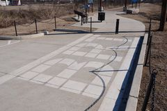 大河足迹入口,西部孟菲斯,阿肯色 免版税库存图片
