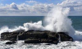 大波浪加利福尼亚海岸 库存照片
