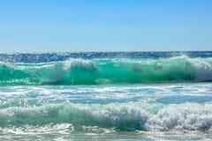 大波浪背景 库存图片
