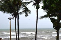 大浪海滩在KRABI镇 库存照片