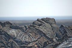 大海岛熔岩荒野 免版税库存照片