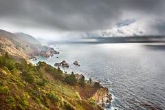 大海岸太平洋sur 库存图片