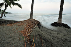 大海岸早期的夏威夷海岛kona早晨 免版税图库摄影