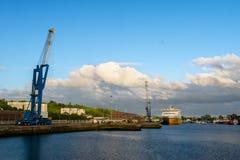 大港口用法语Dieppe 免版税库存照片