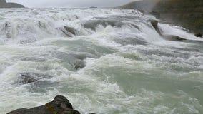 大瀑布古佛斯瀑布,冰岛 股票视频