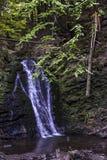 大瀑布在喀尔巴阡山脉的森林里 库存图片