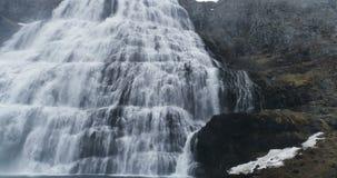 大瀑布在西峡湾区冰岛 影视素材